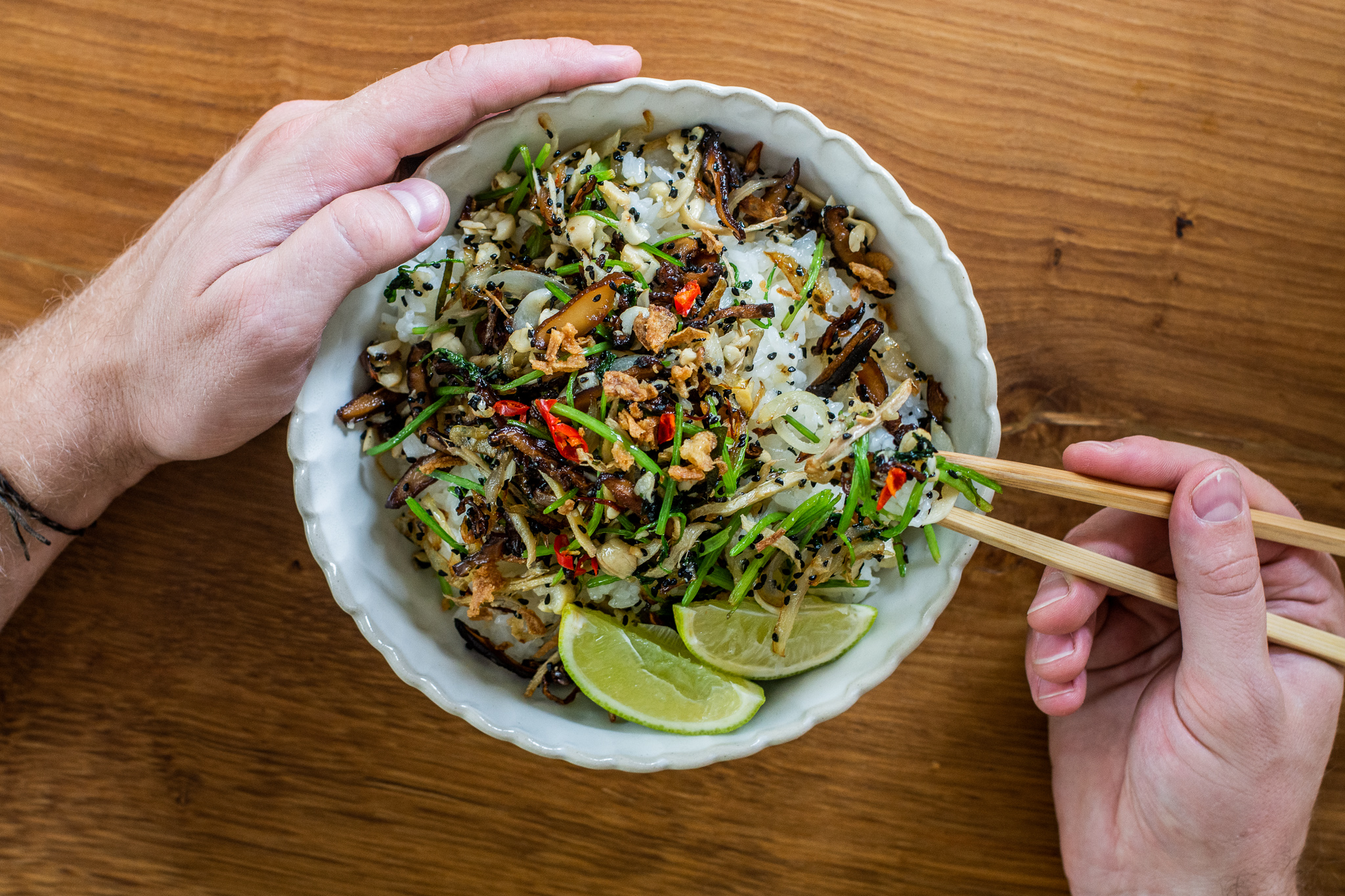 Recept na křupavou rýži